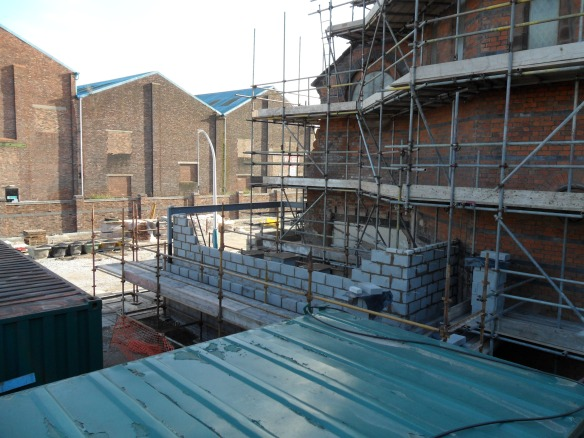 The extension (which will be the entrance into St Marie's) starts to take shape.