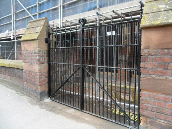 The gates have been restored. They will be permanently shut.