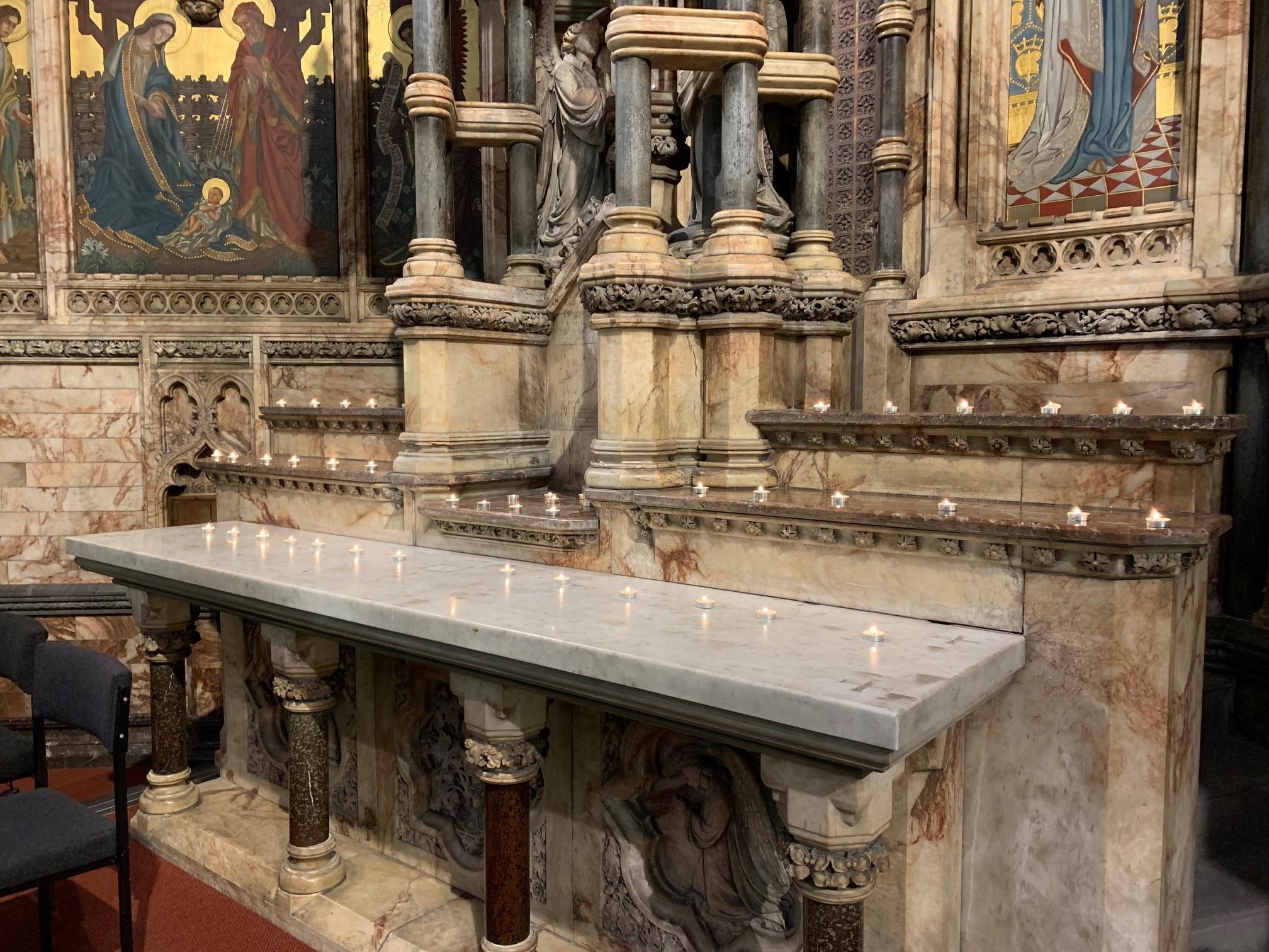 18 12 Candles Altar